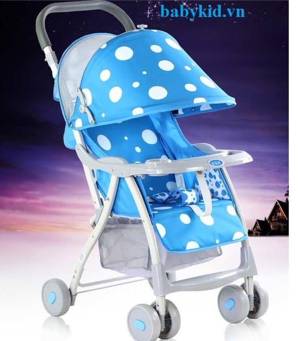 Xe đẩy trẻ em HBH-722C-H210 chấm bi