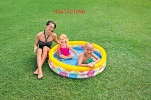 Bể bơi phao intex hoa tròn cho bé 59419