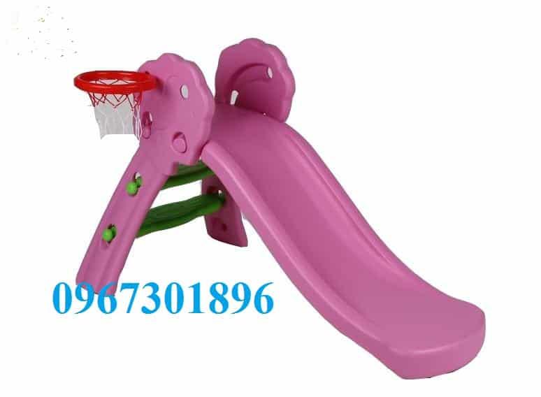 Cầu trượt trẻ em CT-148 màu hồng