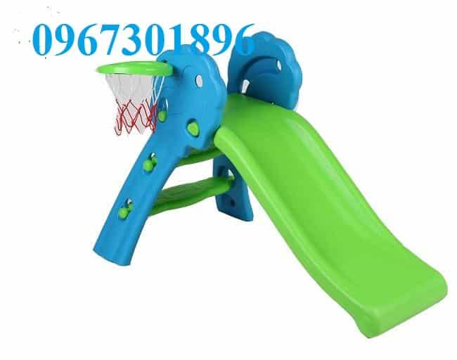 Cầu trượt trẻ em CT-148 màu xanh