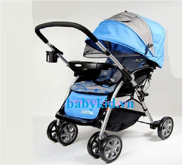 Xe đẩy trẻ em E-592 xanh dương