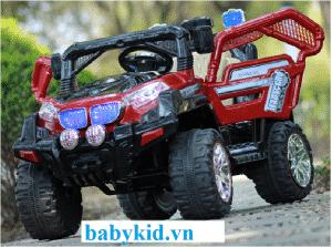 Xe ô tô điện trẻ em WXE-9688 màu đỏ