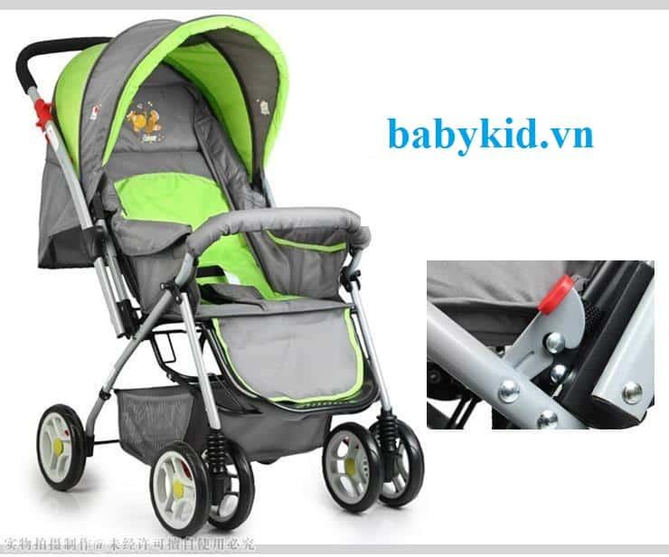 Xe đẩy trẻ em Angel 3012 xanh cốm