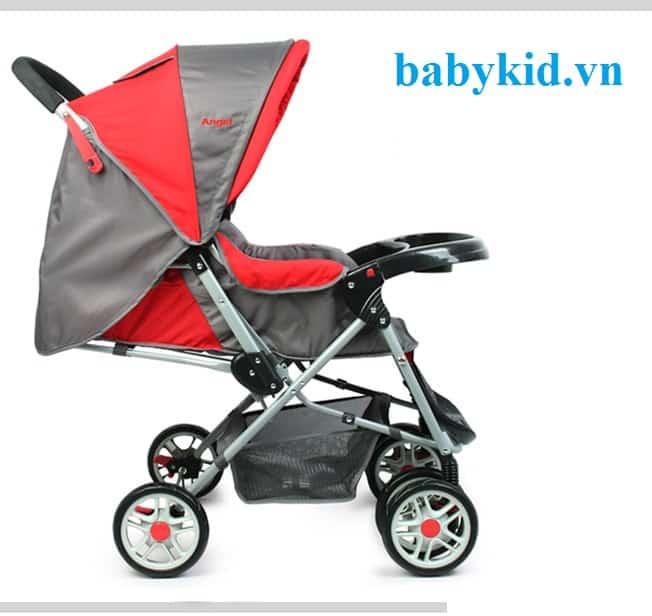 Xe đẩy trẻ em angel 2046 màu đỏ