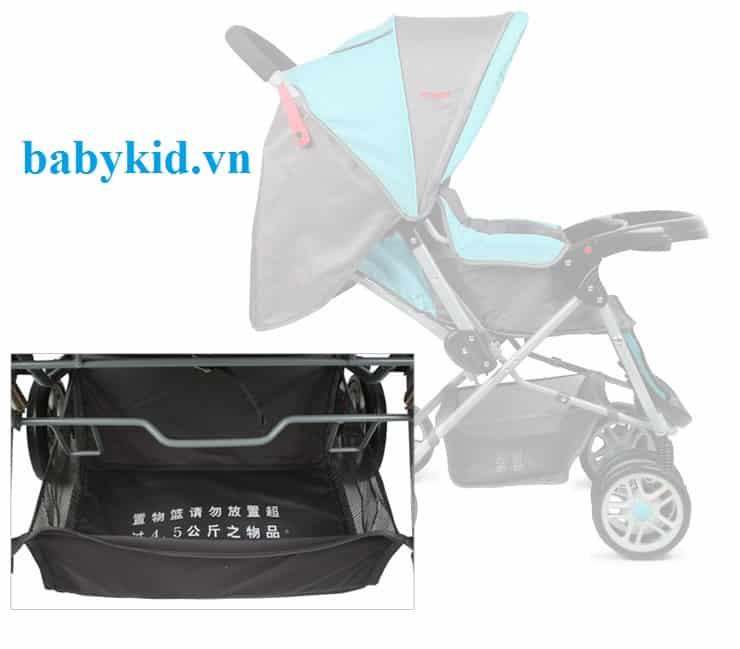 Xe đẩy trẻ em angel 2046 màu xanh
