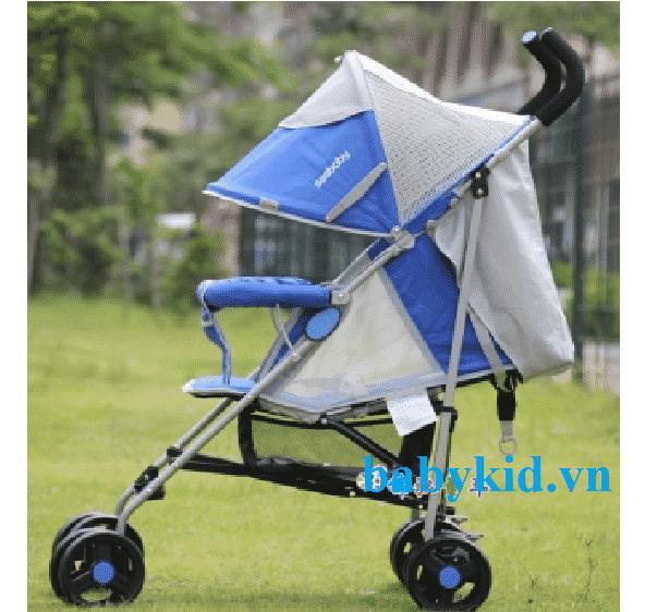 Xe đẩy trẻ em Seebaby S02-1 xanh