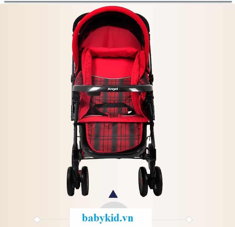 Xe đẩy trẻ em Angel 3504 màu đỏ