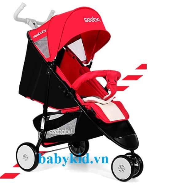 Xe đẩy trẻ em Seebaby Q5 màu đỏ