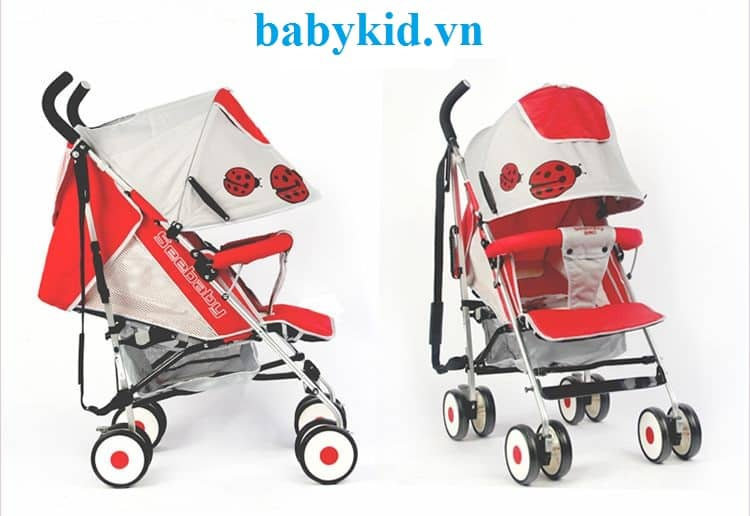 Xe đẩy trẻ em Seebaby S03A màu đỏ
