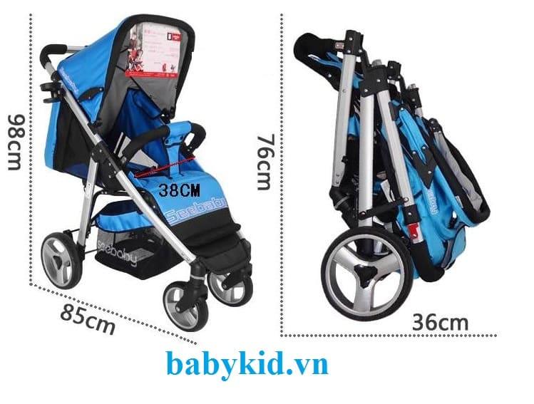 Xe đẩy trẻ em Seebaby T10A kích thước nhỏ gọn