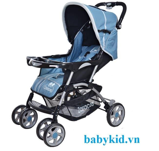 Xe đẩy trẻ em Zaracos JAMES C618 màu xanh