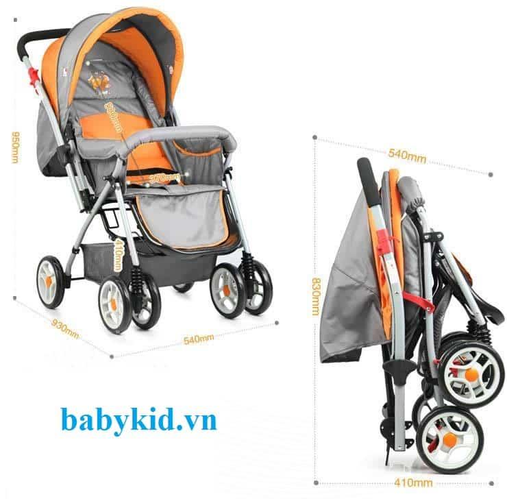 Xe đẩy trẻ em Angel 3012 màu cam