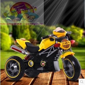 Xe máy điện trẻ em 3186 màu vàng