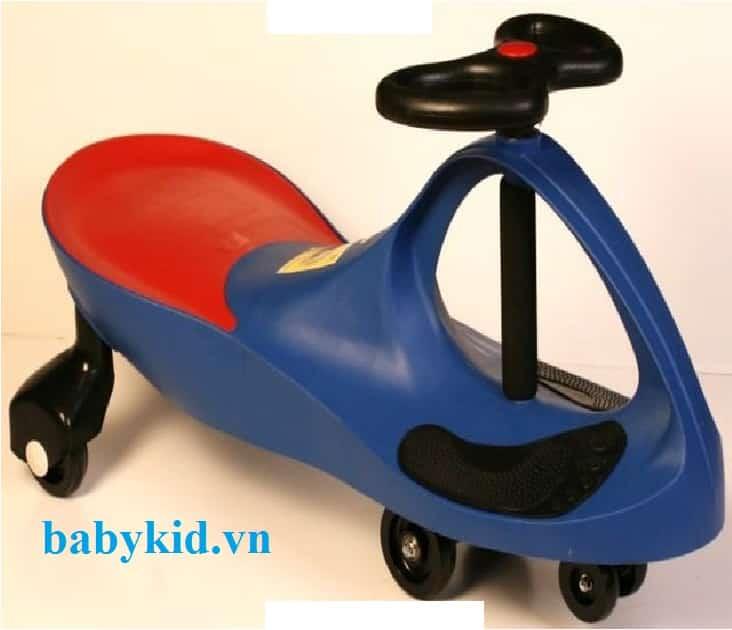 Xe lắc trẻ em HQ- 3006 màu xanh