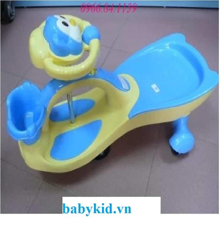 Xe lắc trẻ em 518 màu xanh