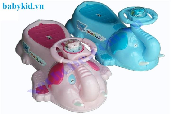 Xe lắc trẻ em 801A xanh