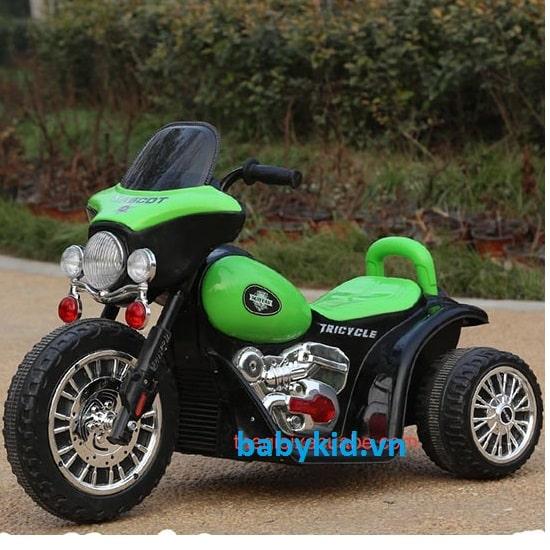 Xe máy điện trẻ em HS-200 màu xanh