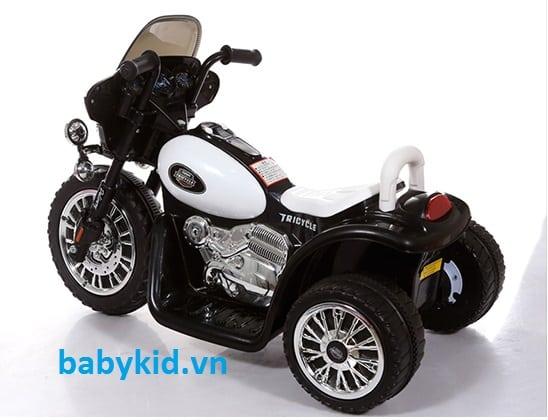 Xe máy điện trẻ em HS-200 màu trắng