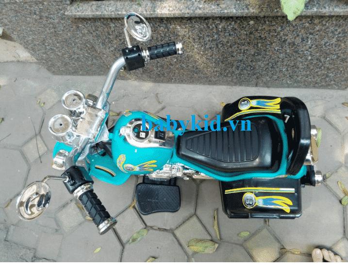 Xe máy điện trẻ em 3688 màu xanh