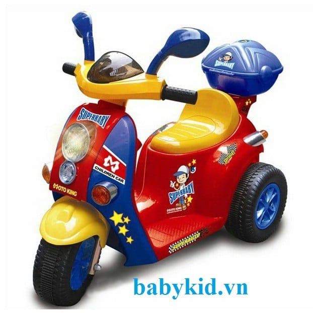 Xe máy điện trẻ em 7366 màu đỏ