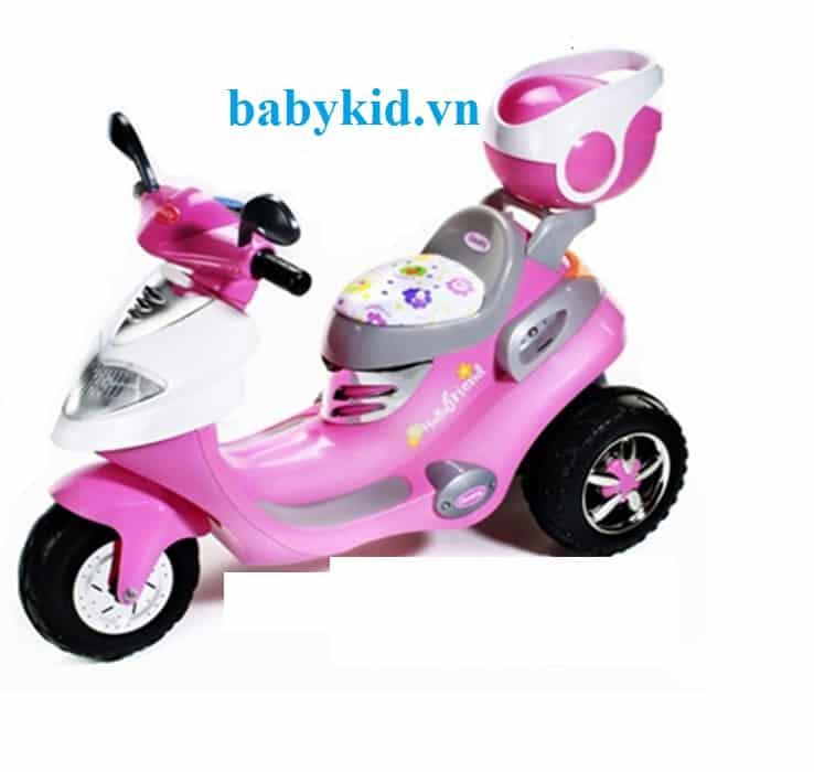Xe máy điện trẻ em LW626 màu hồng