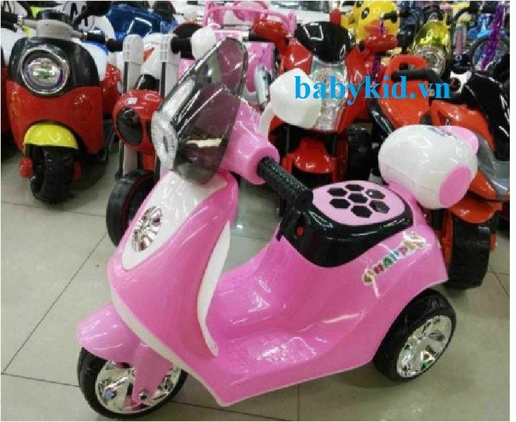 Xe máy điện trẻ em M5188 màu hồng