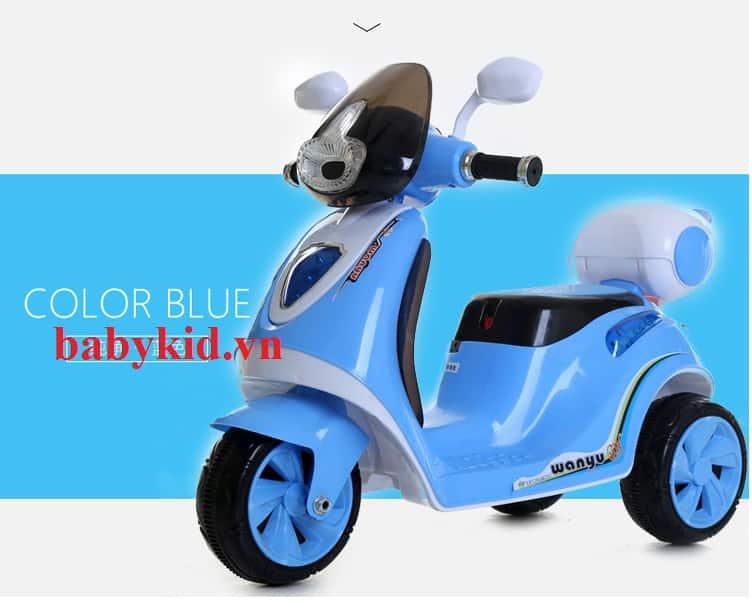 Xe máy điện trẻ em M5188 màu xanh