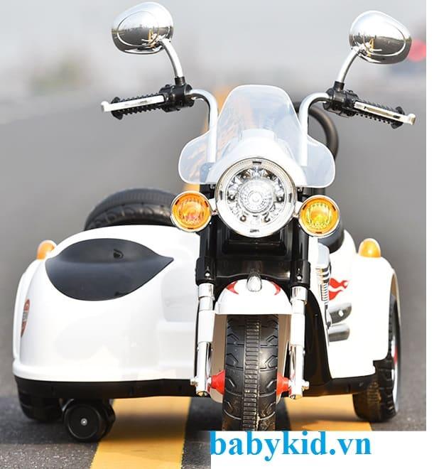 Xe máy điện trẻ em Police SX138 màu trắng