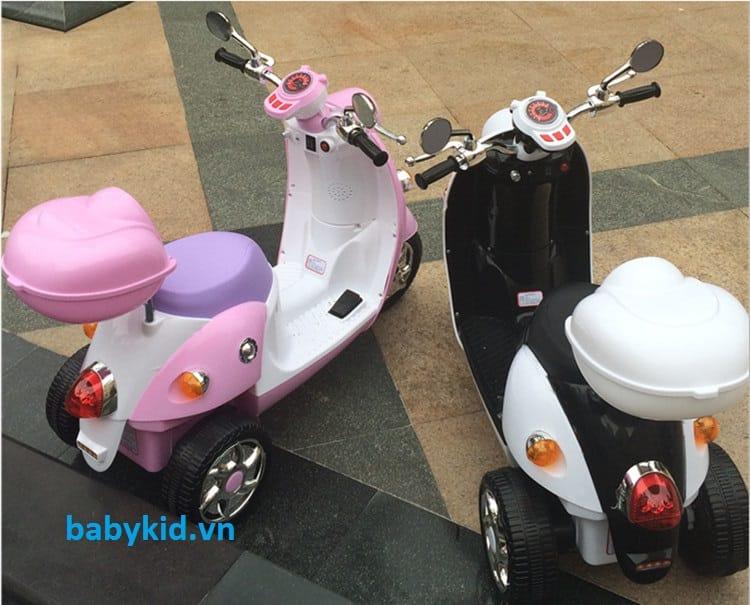 Xe máy điện trẻ em QK-303 màu hồng