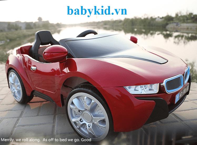 Xe ô tô điện trẻ em AT1818 màu đỏ