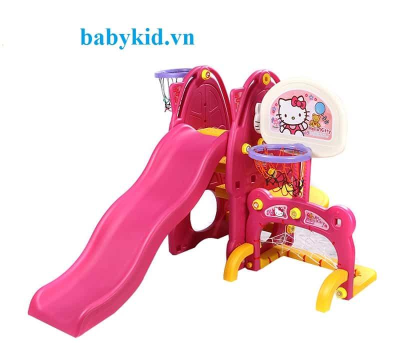 Cầu trượt trẻ em N001B màu hồng