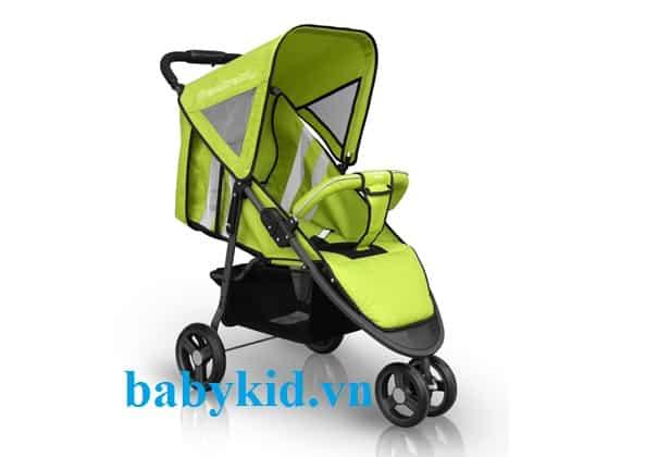 Xe đẩy trẻ em Seebaby T03 màu xanh
