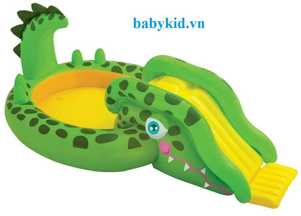 Bể bơi phao cầu trượt trẻ em 57132