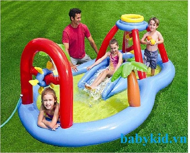Bể bơi phao cầu trượt trẻ em 57449