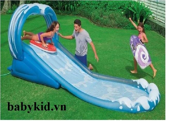 Bể bơi phao trẻ em có cầu trượt 57469