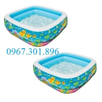 Bể bơi phao intex hình vuông 57471 xanh dương