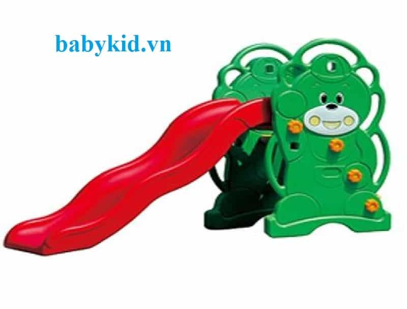 Cầu trượt trẻ em hình gấu KT010
