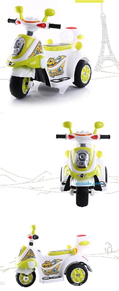 Xe máy điện trẻ em DMD-128 màu trắng vàng