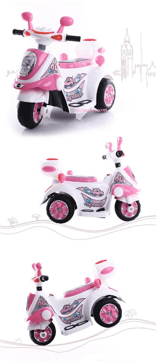 Xe máy điện trẻ em DMD-128 màu hồng