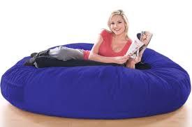 Ghế lười hạt xốp hình trụ tròn size XL màu xanh dương