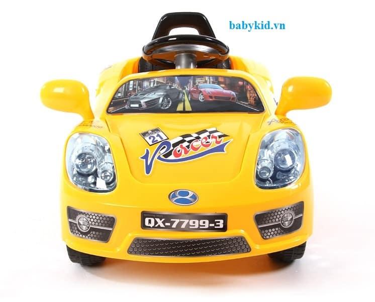 Xe máy điện trẻ em QX-7799-3 màu vàng1
