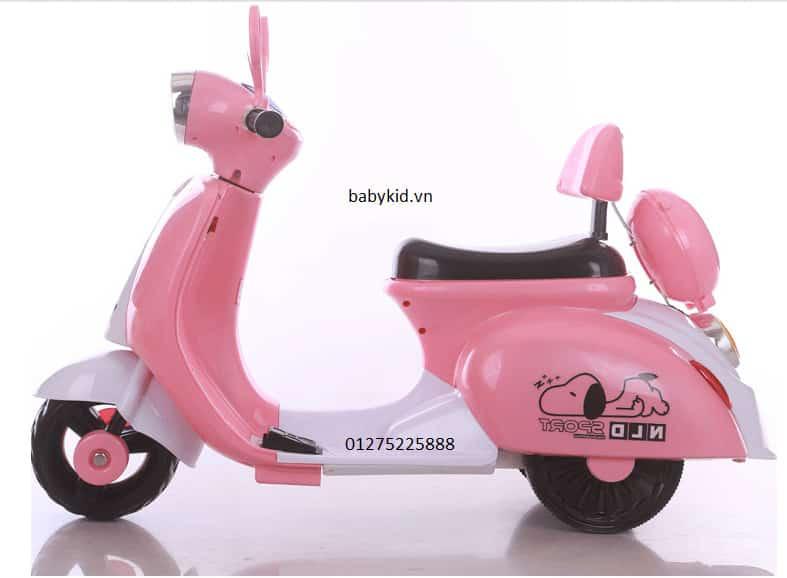 xe máy điện trẻ em 3279 (Vespa) màu hồng