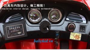 Xe ô tô điện trẻ em BJQ-519 màu đỏ sơn tĩnh điện