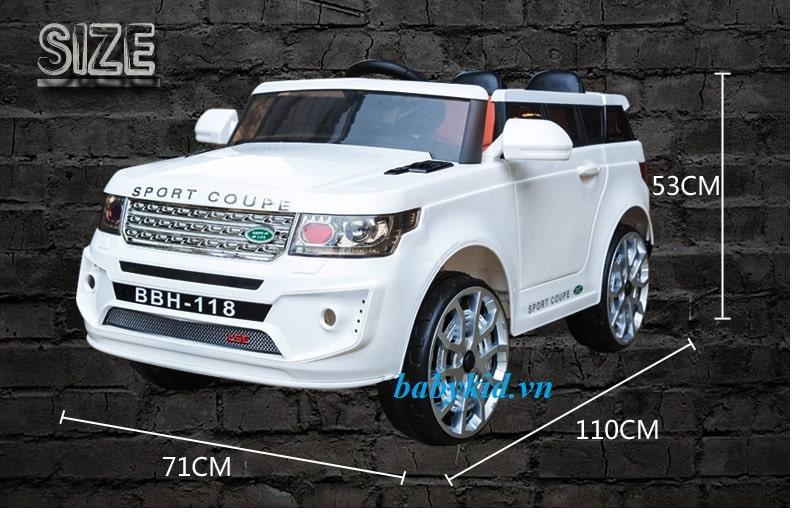 Xe ô tô điện trẻ em BBH-118 màu trắng