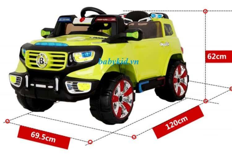 Xe ô tô điện trẻ em BI-118 màu vàng