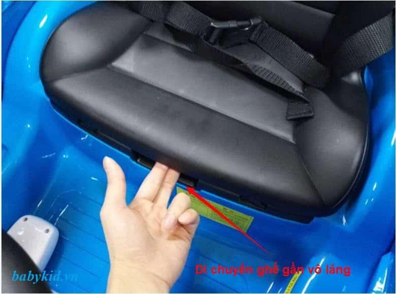 Ghế ngồi cực rộng trang bị thêm đai an toàn cố định