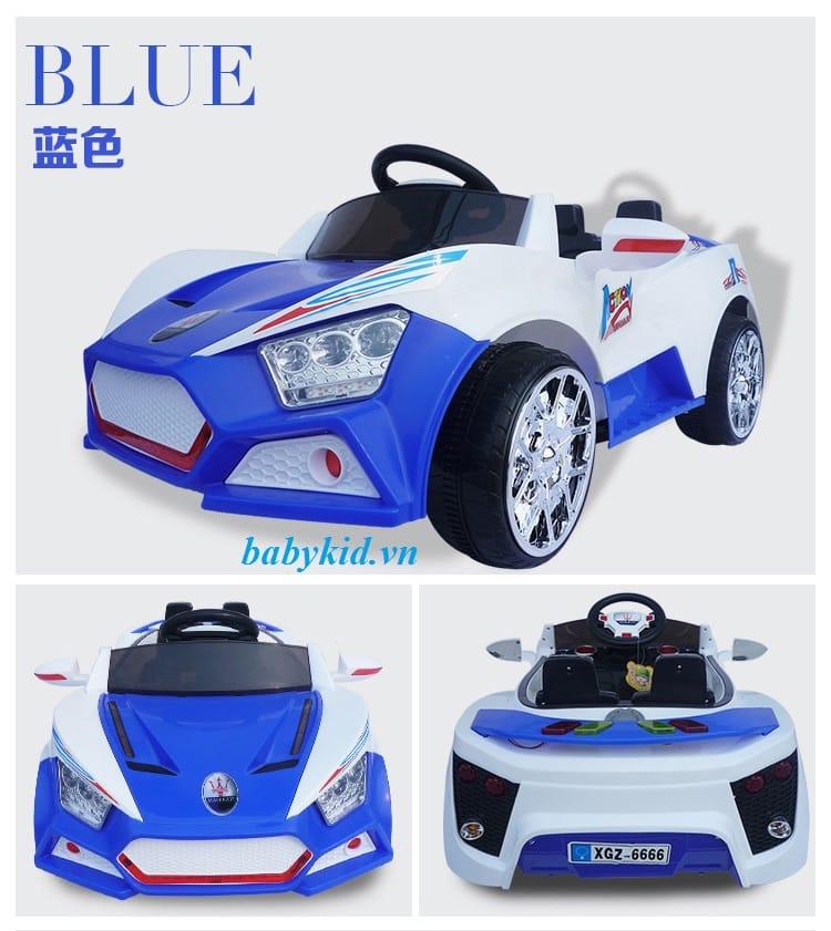 xe ô tô điện trẻ em BQ6666 màu xanh