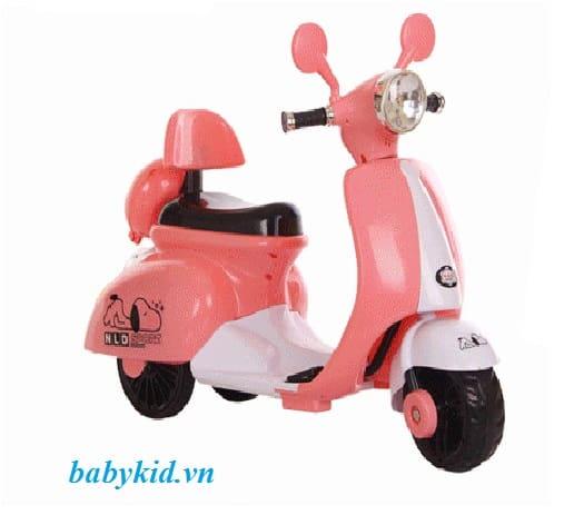 xe máy điện trẻ em 3279 màu hường