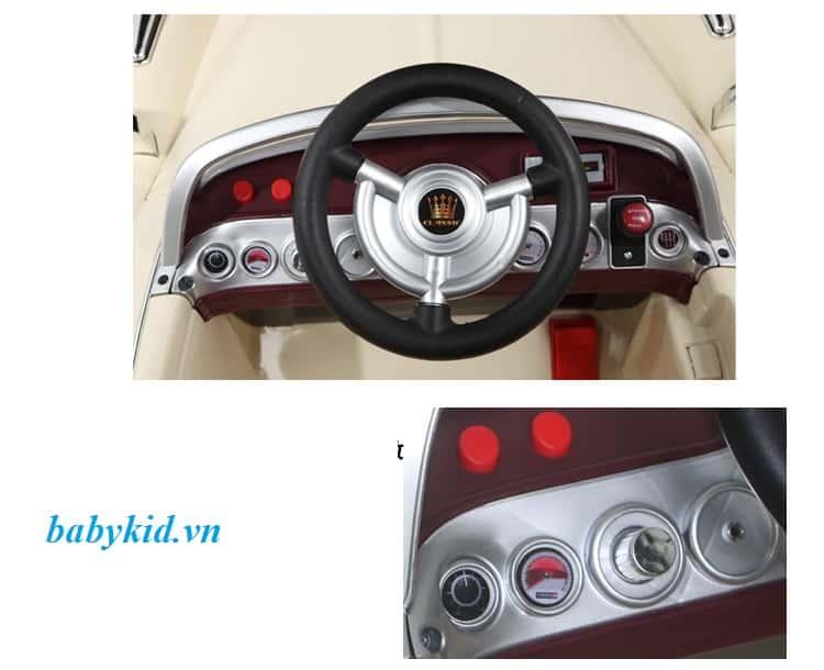 Xe ô tô điện trẻ em JE-128 bảng điều khiển phía trước xe