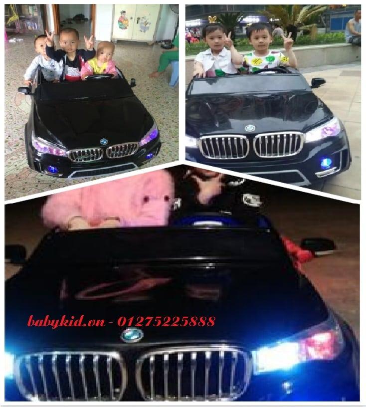 xe ô tô điện cho bé A-998 ghế ngồi rộng